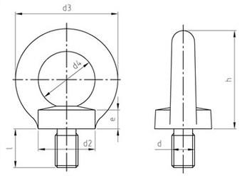 Картинки по запиту Рим-болти DIN 580 сталеві